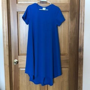 LulaRoe Carly Quilted Cobalt Blue